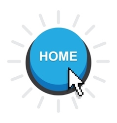 Home button icon vector