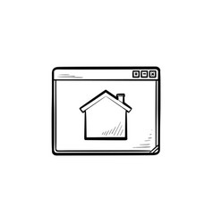 homepage hand drawn outline doodle icon vector image