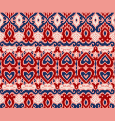 Ikat ornament ethnic seamless pattern vector