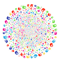 Intellect bulb bang spheric cluster vector