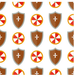 Knight shield medieval weapons heraldic knightly vector