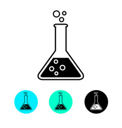 Laboratory glass icon test tube trendy modern vector