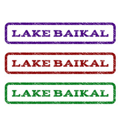 lake baikal watermark stamp vector image