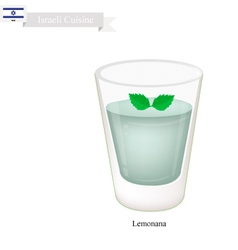 Lemonana or in Israeli Frozen Mint Lemonade vector image