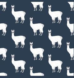 Llama in glasses seamless pattern vector