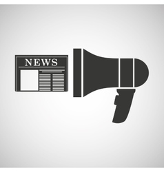 Megaphone speaker news icon graphic vector