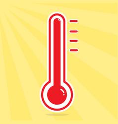 mercury thermometer vector image