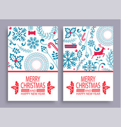 Merry christmas set covers vector