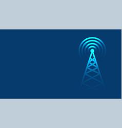 Mobile tower transmission radar technology vector