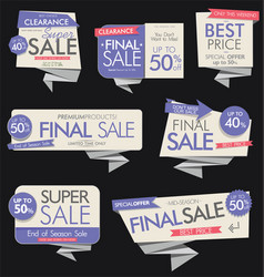 modern sale banners and labels collection 3 vector image