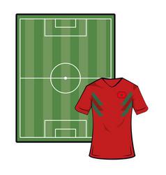 Morocco soccer tshirt vector