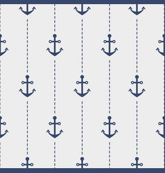 nautical seamless pattern with anchors vector image