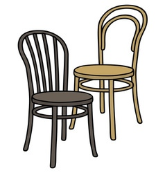Old wooden chairs vector image
