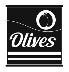 olives can icon simple style vector image