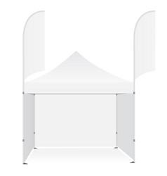 Outdoor pop up canopy tent vector