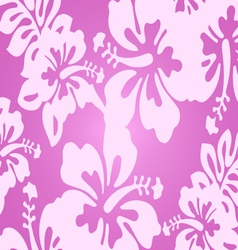 Pink decorative floral pattern vector