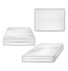 Realistic detailed 3d white blank mattress vector