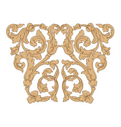 Retro baroque decorations element vector
