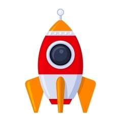 Rocket Space Ship in Flat Style vector image