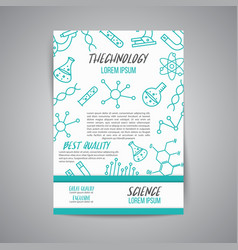 Science poster on white background research vector