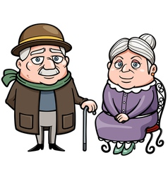 Senior couple vector image
