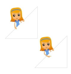 Set of funny cartoon housewife vector