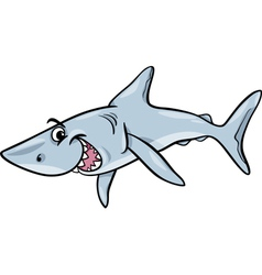 Shark animal cartoon vector