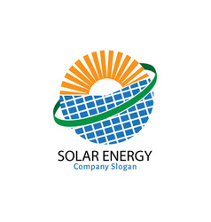 solar energy for healthy life vector image