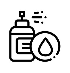 Spray lotion drop cosmetic thin line icon vector