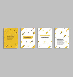 templates set with abstract geometric placards vector image