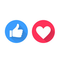 thumb up and heart icon vector image