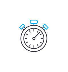 time frames thin line stroke icon time vector image