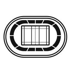 top volleyball arena icon simple style vector image