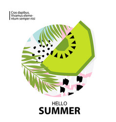 Trendy tropic and kiwi background vector