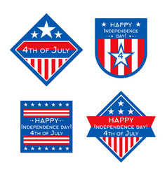 usa independence day badges or labels vector image
