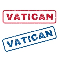 Vatican rubber stamps vector