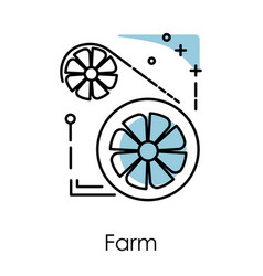 video card server farm isolated icon vector image