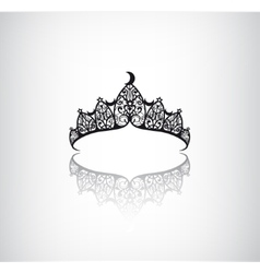 Vintage elegant decorated with star crown vector