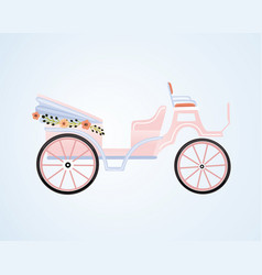 Vintage floral carriage vector