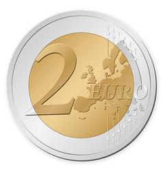 2 euro coin vector