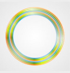 Bright circle logo background vector image