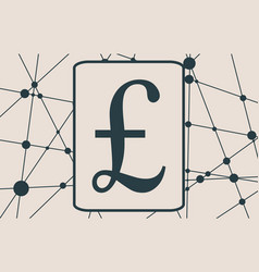 pound money symbol vector image vector image