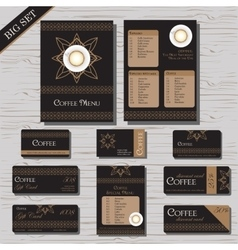 Restaurant cafe menu template set vector image