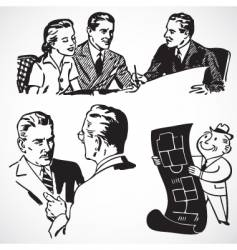 retro business vector image vector image
