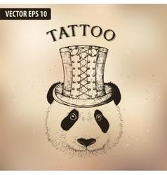 steampunk panda hat vector image vector image