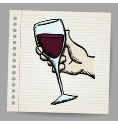 Wine doodle vector image vector image