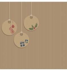 decorative tags vector image