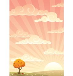 meadow autumn vector image vector image