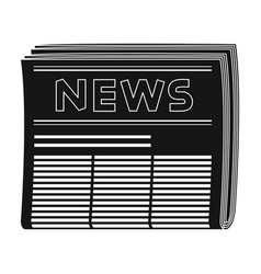 newspapermail and postman single icon in black vector image