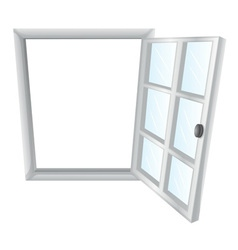 Single window frame vector image vector image